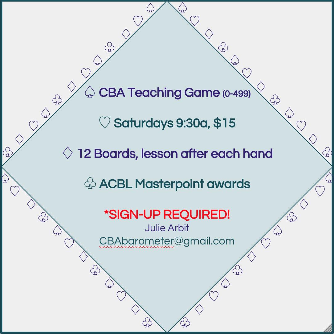 CBA Barometer Game
